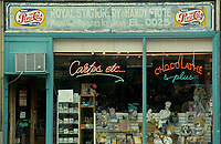Montreal (Qc) CANADA - File photo taken between 1983 and 1999  - Old sign on store front of Royal Stationary & Handy Store in NDG (Notre-Dame-de-Grace) burrough