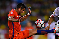 Chicago, IL - Wednesday June 22, 2016: Mauricio Isla during a Copa America Centenario semifinal match between Colombia (COL) and Chile (CHI) at Soldier Field.