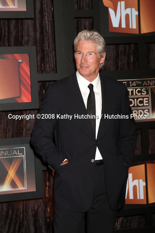 Richard Gere  arriving at the  Critic's Choice Awards at the Santa Monica Civic Center, in Santa Monica , CA on .January 8, 2009.©2008 Kathy Hutchins / Hutchins Photo..                .