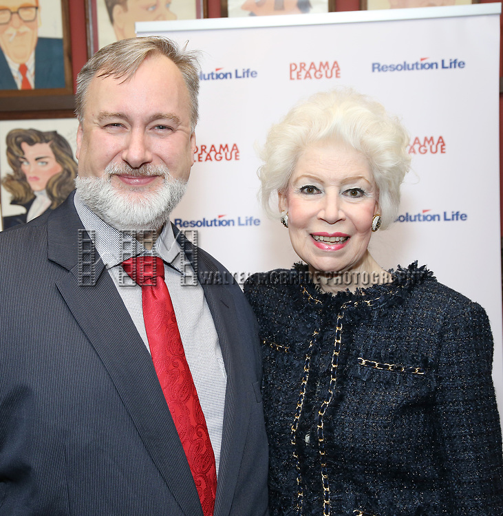 Jano Herbosch and Gabriel Shanks attends the 2017 Drama League Award Nominees Announcements at Sardi's on April 19, 2017 in New York City.