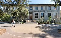 Exterior photo of the Mary Norton Clapp Library on September 19, 2012.<br /> (Photo by Marc Campos, Occidental College Photographer)