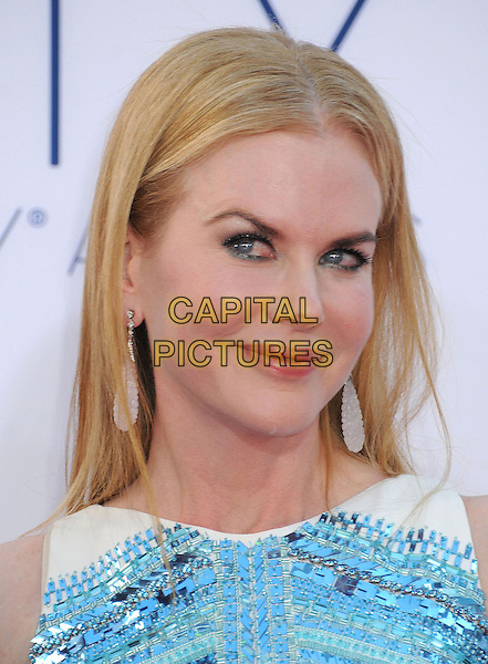 Nicole Kidman.The 64th Anual Primetime Emmy Awards held at Nokia Theatre L.A. Live in Los Angeles, California, USA..September 23rd, 2012.emmys headshot portrait white  blue sequins sequined .CAP/ADM/BP.©Byron Purvis/AdMedia/Capital Pictures.