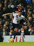 Tottenham's Kyle Walker tussles with Newcastle's Alesandar Mitrovic<br /> <br /> Barclays Premier League- Tottenham Hotspur vs Newcastle United - White Hart Lane - England - 13th December 2015 - Picture David Klein/Sportimage