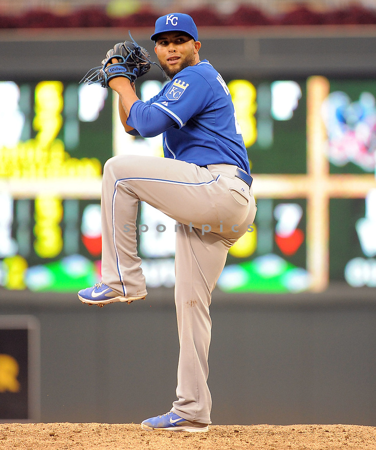 Kansas City Royals Kelvin Herrera (40) during a game against the Minnesota Twins on August 17, 2014 at Target Field in Minneapolis, MN. The Royals beat the Twins 12-6.