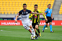 Melbourne Victory&rsquo;s Carl Valeri and Wellington Phoenix&rsquo; Dario Vidosic in action during the A League - Wellington Phoenix v Melbourne Victory FC at Westpac Stadium, Wellington, New Zealand on Sunday 3 December.<br /> Photo by Masanori Udagawa. <br /> www.photowellington.photoshelter.com