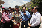 State Attorney Maria de la Luz Candelaria and state authorities block the Humanitarian caravan to San Juan Copala on the highway Juxtlahuaca-San Juan Copala, June 08, 2010, as the state authorities try to stop the caravan. More than four hundred people make their way to San Juan Copala's Autonomous Municipality, carrying 35 tons of food to the Triqui people of San Juan Copala sieged by the paramilitaries of the ruling party PRI's Union para el Bienestar Social de la Region Triqui (UBISORT). Photo by Heriberto Rodriguez