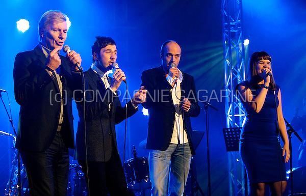 Paul Michiels, Gustaph, Jan Vandecasteele and Lady Linn at the Radio 1 Sessies (Belgium, 13/10/2010)