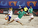 (L-R) Shunta Suzuki (JPN), Benjamin Mosco, Gustavo Rosales (MEX),SEPTEMBER 2, 2011 - Beach Soccer :FIFA Beach Soccer World Cup Ravenna/Italy 2011, Group D match between Japan 2-3 Mexico at Stadio del Mare in Marina di Ravenna, Ravenna, Italy. (Photo by Wataru Kobayakawa/AFLO)