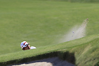 Hideki Matsuyama (JPN) chips into the 16th green from a bunker during Thursday's Round 1 of the 118th U.S. Open Championship 2018, held at Shinnecock Hills Club, Southampton, New Jersey, USA. 14th June 2018.<br /> Picture: Eoin Clarke | Golffile<br /> <br /> <br /> All photos usage must carry mandatory copyright credit (&copy; Golffile | Eoin Clarke)