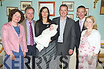 Baby Jamie Courtney, Ardmoniel, Killorglin, pictured with his parents Damein and Helene, godparents Marie-Therese Roulin and John Callaghan at his christening celebrations which were held in Kate Kearneys Cottage, Beaufort on Saturday. Also pictured are Daniel Courney and Yvonne Callinan.................................................................