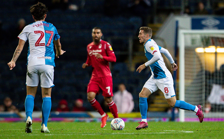 Blackburn Rovers' Joe Rothwell breaks<br />  <br /> Photographer Andrew Kearns/CameraSport<br /> <br /> The EFL Sky Bet Championship - Blackburn Rovers v Nottingham Forest - Tuesday 1st October 2019  - Ewood Park - Blackburn<br /> <br /> World Copyright © 2019 CameraSport. All rights reserved. 43 Linden Ave. Countesthorpe. Leicester. England. LE8 5PG - Tel: +44 (0) 116 277 4147 - admin@camerasport.com - www.camerasport.com