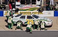 Apr 25, 2009; Talladega, AL, USA; NASCAR Nationwide Series driver Kenny Wallace pits during the Aarons 312 at the Talladega Superspeedway. Mandatory Credit: Mark J. Rebilas-