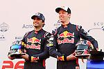 Carlos Sainz Junior en la presentracion de la Scurderia Toro Rosso en el Circuit de Catalunya