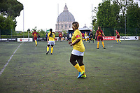 "The women's soccer team of Vatican City. 26 may 2019<br /> <br /> Women's football arrives at the Vatican, with what can be considered in all respects the women's national football team of the Holy See. The Vatican representative, announced in recent weeks, made its debut yesterday afternoon, Sunday 26 May, in the sports center of the Knights of Columbus, against the Roma women's team of Roma.<br /> The girls that make up the team are all Vatican employees or wife and daughters of staff of the Holy See, plus some players from the Bambino Gesù hospital team who joined for this 11-a-side football match. «We are born in an amateur way - he tells the attacker and captain of the Vatican Eugene Tcheugoue - and playing together represents for us above all a way to get to know and be together ».<br /> <br /> The young soccer player, a graduate in theology and a native of Cameroon, has no doubts about the great important symbolism of the team: ""Many of us are mothers even before they are employees or at least daughters and wives, so in the first place for us is the metaphor of football as a gym of life. Sport in general - says Eugene Tcheugoue - conveys a fundamental message, both for the new generations and in particular for women ""."