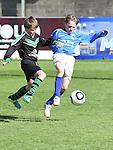 Albion Rovers Tomás Walsh Dromin Utd Ciaran Logue. Photo:Colin Bell/pressphotos.ie