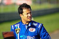 RIO DE JANEIRO, RJ, 21 DE JULHO 2012 - CAMPEONATO BRASILEIRO DE GRAN TURISMO - CORRIDA 1 - 4ª ETAPA - RIO DE JANEIRO - O piloto Allam Khodair, antes da corrida 1 da 4ª etapa do Campeonato Brasileiro de Gran Turismo, disputado no Autodromo Internacional Nelson Piquet, Jacarepagua, Rio de Janeiro, neste sábado, 21. FOTO BRUNO TURANO  BRAZIL PHOTO PRESS