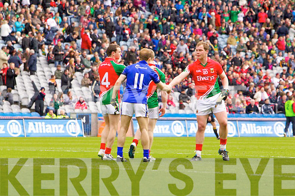 Kerry in action against   Mayo in the National Football League Semi Final at Croke Park on Sunday.