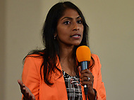 Baltimore, MD - June 2, 2018:  Krishanti O'Mara Vignarajah participates in a forum with democrat candidates for Maryland Governor at the New Waverly United Methodist Church in Baltimore, Maryland, June 2, 2018. Leaders of a Beautiful Struggle sponsored the forum. (Photo by Don Baxter/Media Images International)