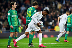 Rodrygo Goes of Real Madrid celebrates goal during La Liga match between Real Madrid and Real Sociedad at Santiago Bernabeu Stadium in Madrid, Spain. February 06, 2020. (ALTERPHOTOS/A. Perez Meca)