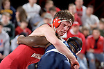 MADISON, WI - JANUARY 19: Dallas Herbst of the Wisconsin Badgers wrestling team against the Penn State Nittany Lions at the Field House on January 19, 2007 in Madison, Wisconsin. The Badgers beat the Nittany Lions 17-16. (Photo by David Stluka)