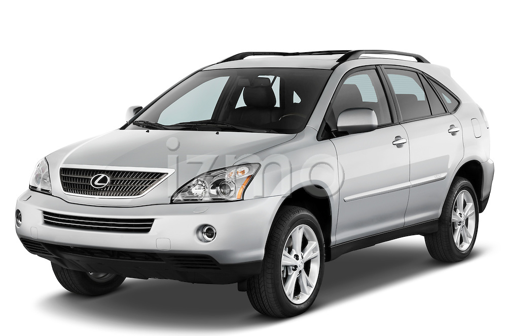 Front three quarter view of a 2008 Lexus RX Hybrid.