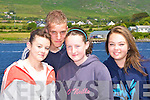 Soaking up the sunshine at the Caherciveen Regatta on Sunday was l-r: Cliona Ross, Sean Deinum, Niamh McSweeney and Sarah Evans   Copyright Kerry's Eye 2008