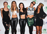 WEST HOLLYWOOD, CA, USA - AUGUST 06: Lauren Bennett, Emmalyn Estrada, Natasha Slayton, Paula Van Oppen, Simone Battle, G.R.L., GRL at The Imagine Ball Presented By John Terzian & Randall Kaplan Benefiting Imagine LA held at the House of Blues Sunset Strip on August 6, 2014 in West Hollywood, California, United States. (Photo by Celebrity Monitor)