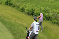 Peter Uihlein (USA) chips onto the 4th green during Friday's Round 2 of the 117th U.S. Open Championship 2017 held at Erin Hills, Erin, Wisconsin, USA. 16th June 2017.<br /> Picture: Eoin Clarke | Golffile<br /> <br /> <br /> All photos usage must carry mandatory copyright credit (&copy; Golffile | Eoin Clarke)