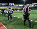 Arsenal's Arsene Wenger leaves the field at the final whistle during the Premier League match at Selhurst Park Stadium, London. Picture date: April 10th, 2017. Pic credit should read: David Klein/Sportimage