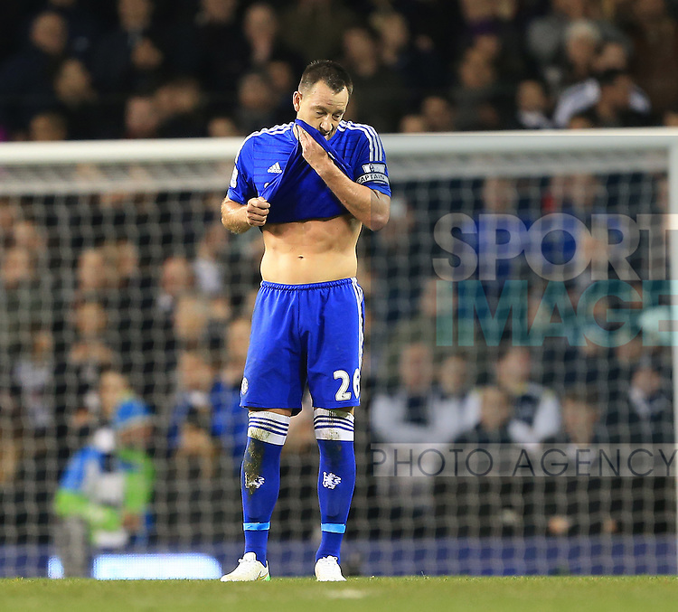 Chelsea's John Terry looks on dejected after going 3-1 down<br /> <br /> Barclays Premier League - Tottenham Hotspur vs Chelsea - White Hart Lane  - England - 1st January 2015 - Picture David Klein/Sportimage