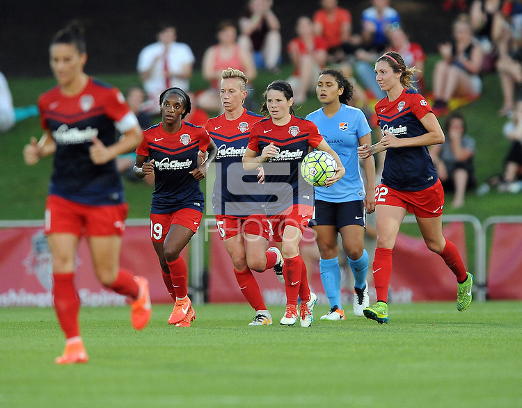 Boyds, MD - Saturday June 25, 2016: Washington Spirit Diana Matheson goal prior to a United States National Women's Soccer League (NWSL) match between the Washington Spirit and Sky Blue FC at Maureen Hendricks Field, Maryland SoccerPlex.