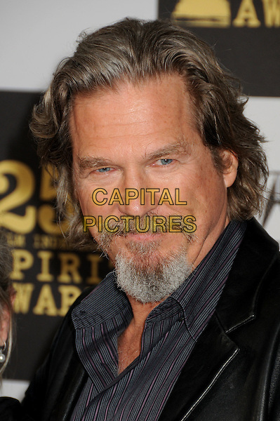 JEFF BRIDGES .25th Annual Film Independent Spirit Awards - Arrivals held at the Nokia Event Deck at L.A. Live, Los Angeles, California, USA..March 5th, 2010.headshot portrait black grey gray goatee facial hair .CAP/ADM/BP.©Byron Purvis/AdMedia/Capital Pictures.