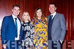 Neil O'Sullivan, Deirdre Ní Dhubdha, Rachel Walsh and Mike McCarthy at the Castleisland AFC gala in the River Island Hotel on Saturday night