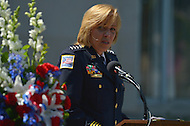 May 10, 2013  (Washington, DC)  MPD Police Chief Cathy Lanier speaks during a National Police Week ceremony at the Washington Area Law Enforcement Memorial.  (Photo by Don Baxter/Media Images International)