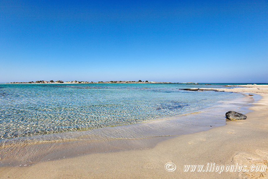The beach of exotic Elafonissos in Crete, Greece