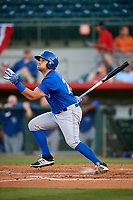 Dunedin Blue Jays designated hitter Connor Panas (27) follows through on a swing during a game against the Florida Fire Frogs on April 10, 2017 at Osceola County Stadium in Kissimmee, Florida.  Florida defeated Dunedin 4-0.  (Mike Janes/Four Seam Images)