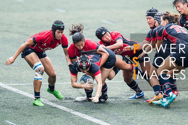 Chau Hei Tung of Dragons (C) in action during the Women's National Super Series 2017 on 13 May 2017, in Hong Kong Football Club, Hong Kong, China. Photo by Marcio Rodrigo Machado / Power Sport Images