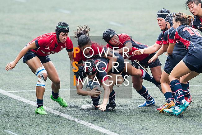 Chau Hei Tung of Dragons (C) in action during the Women's National Super Series 2017 on 13 May 2017, in Hong Kong Football Club, Hong Kong, China. Photo by Marcio Rodrigo Machado / Power Sport Images