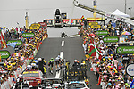 Romain Bardet (FRA) AG2R La Mondiale races for the finish line at Peyragudes chased by Fabio Aru (ITA) Astana and Rigoberto Uran (COL) Cannondale Drapac during Stage 12 of the 104th edition of the Tour de France 2017, running 214.5km from Pau to Peyragudes, France. 13th July 2017.<br /> Picture: ASO/Bruno Bade | Cyclefile<br /> <br /> <br /> All photos usage must carry mandatory copyright credit (&copy; Cyclefile | ASO/Bruno Bade)