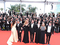 Cannes France May 12 2016 Jodie Foster, Amal Clooney George Clooney, Julia Roberts, Dominic West, Caitriona Bafle, Jack O'Connel attends the Money monster Premiere at the Palais des Festival During the 69th Annual Cannes Film Festival