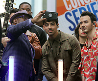 June 07, 2019  Al Roker, Joe Jonas, Kevin Jonas  of Jonas Brothers at Today Show Concert Series to perform,  talk about new album Happiness Begins and tour in New York June 07, 2019   <br /> CAP/MPI/RW<br /> ©RW/MPI/Capital Pictures