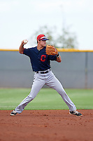 Cleveland Indians Luke Wakamatsu (12) during an instructional league game against the Los Angeles Dodgers on October 15, 2015 at the Goodyear Ballpark Complex in Goodyear, Arizona.  (Mike Janes/Four Seam Images)