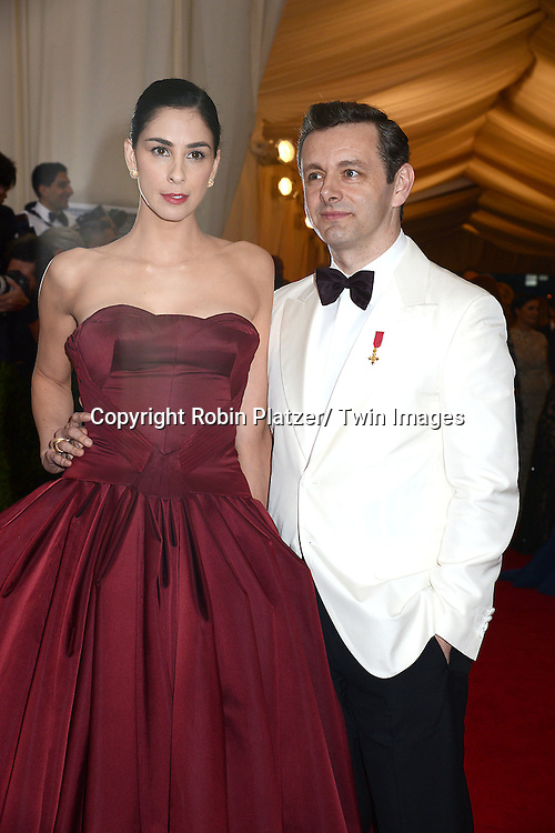 Sarah Silverman and Michael Sheen attends the Costume Institute Benefit on May 5, 2014 at the Metropolitan Museum of Art in New York City, NY, USA. The gala celebrated the opening of Charles James: Beyond Fashion and the new Anna Wintour Costume Center.