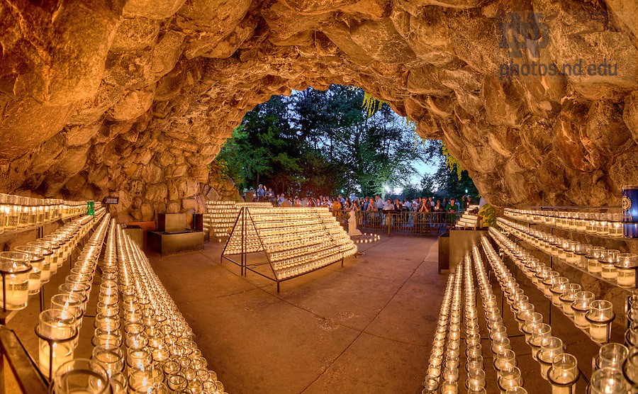 July 12, 2013; Grotto pano. Photo by Barbara Johnston/University of Notre Dame