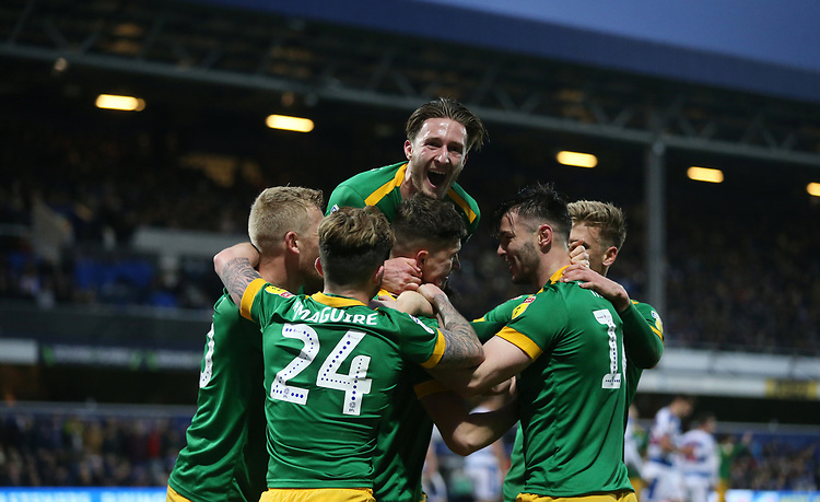 Preston North End's Jordan Storey celebrates scoring his side's second goal with his team mates<br /> <br /> Photographer Rob Newell/CameraSport<br /> <br /> The EFL Sky Bet Championship - Queens Park Rangers v Preston North End - Saturday 19 January 2019 - Loftus Road - London<br /> <br /> World Copyright &copy; 2019 CameraSport. All rights reserved. 43 Linden Ave. Countesthorpe. Leicester. England. LE8 5PG - Tel: +44 (0) 116 277 4147 - admin@camerasport.com - www.camerasport.com