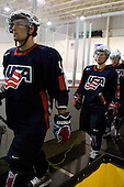 Jerry D'Amigo (US - 9), Tyler Johnson (US - 11) - Team USA defeated Team Russia 6-0 in their final game during the 2009 USA Hockey National Junior Evaluation Camp on Saturday, August 15, 2009, in the USA (NHL-sized) Rink in Lake Placid, New York.