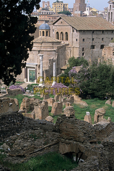 Temple of Romulus and Church of Santi Cosma e Damiano, The Forum, Rome, Italy
