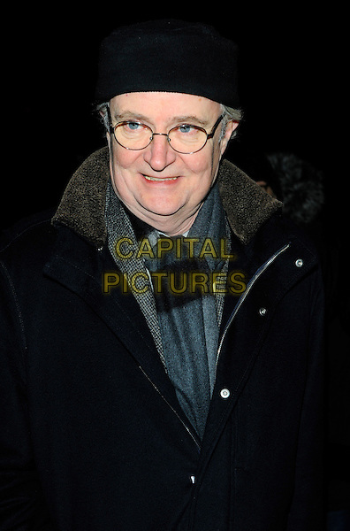 JIM BROADBENT .Arrives at the London Evening Standard British Film Awards 2011 at the Marriot Hotel, Westminster, London, England, UK, 7th February 2011..half length glasses grey gray scarf black jacket hat .CAP/CJ.©Chris Joseph/Capital Pictures.