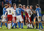 Tempers flare as Andy Halliday, Paul Paton and Richard Foster get involved