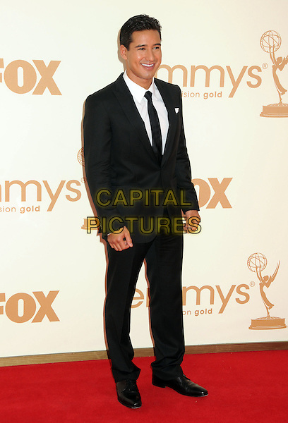 Mario Lopez.63rd Primetime Emmy Awards held at Nokia Theatre L.A. Live. Los Angeles, California, USA. .18th September 2011.emmys full length black suit white shirt   .CAP/ADM/BP.©Byron Purvis/AdMedia/Capital Pictures.